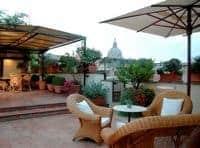 Hotel d'Inghilaterra roof terrace, Rome