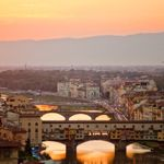 Romantic Florence and the River Arno