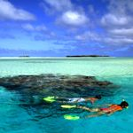Snorkelling in Aitutaki Lagoon