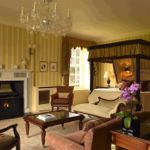Some suites have a fireplace and four poster