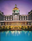 Taj Mahal Palace and its pool, Mumbai