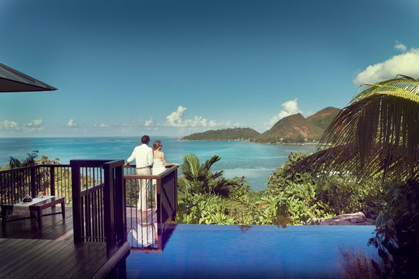Raffles Praslin villa with pool