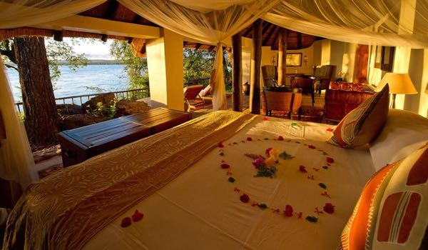 Honeymoon House at Tongabezi Lodge