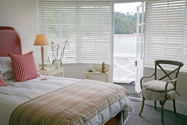 Guest room at The Cary Arms, Devon
