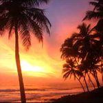 Sunset at Varkala, Kerala coast
